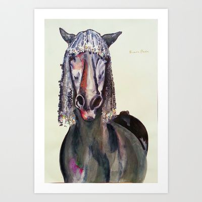 The Pink Horse Art Print by Karla PL - $19.76