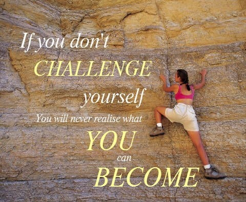 Good quote and rock climbing!