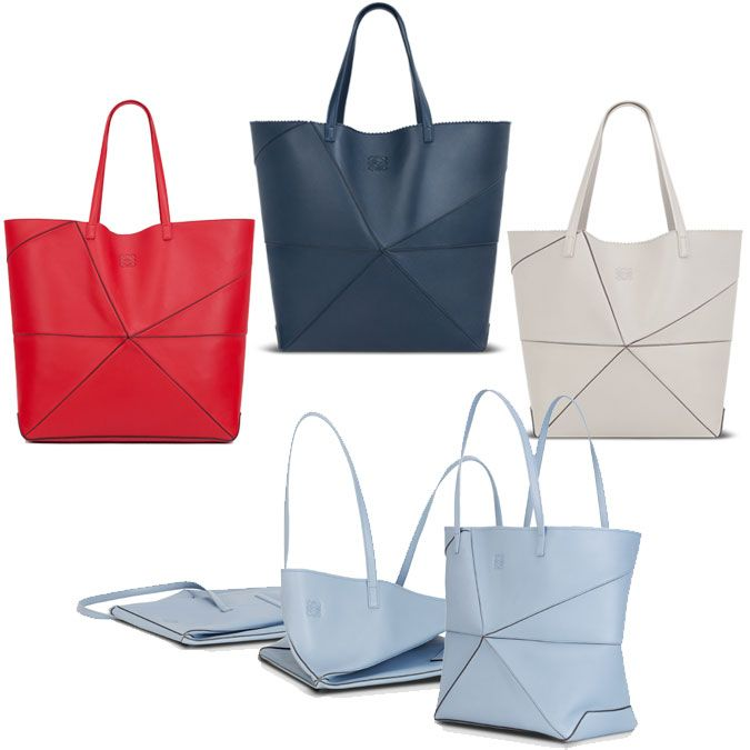 Graphic and functional! Loewe Origami Bag: Ebb and Fold
