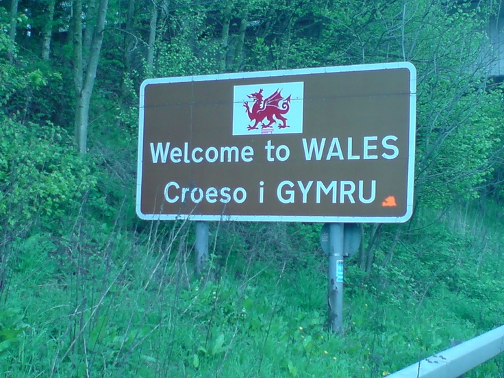 In Wales signs are in English and Welsh!