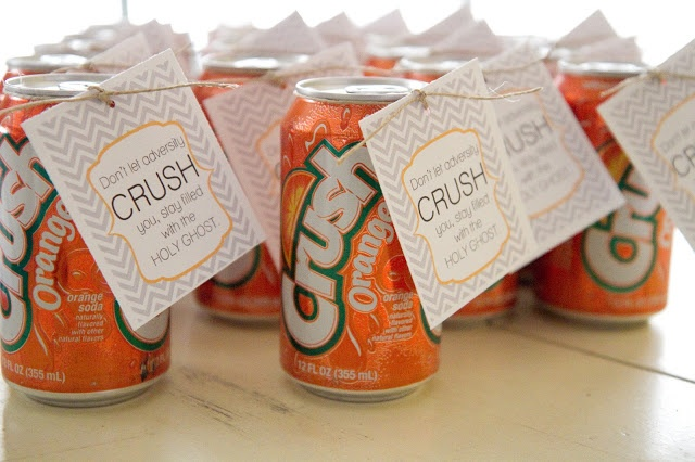 Holy Ghost handout: empty can is easy to crush, but a can that is filled is extremely difficult.