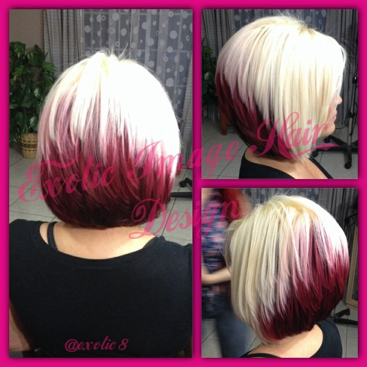 Red Platinum Stacked Bob Style For More Pictures Of My