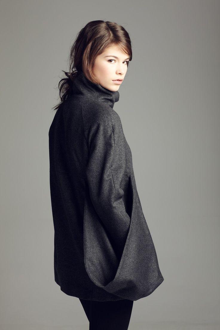 One pocket winter coat. Etsy.