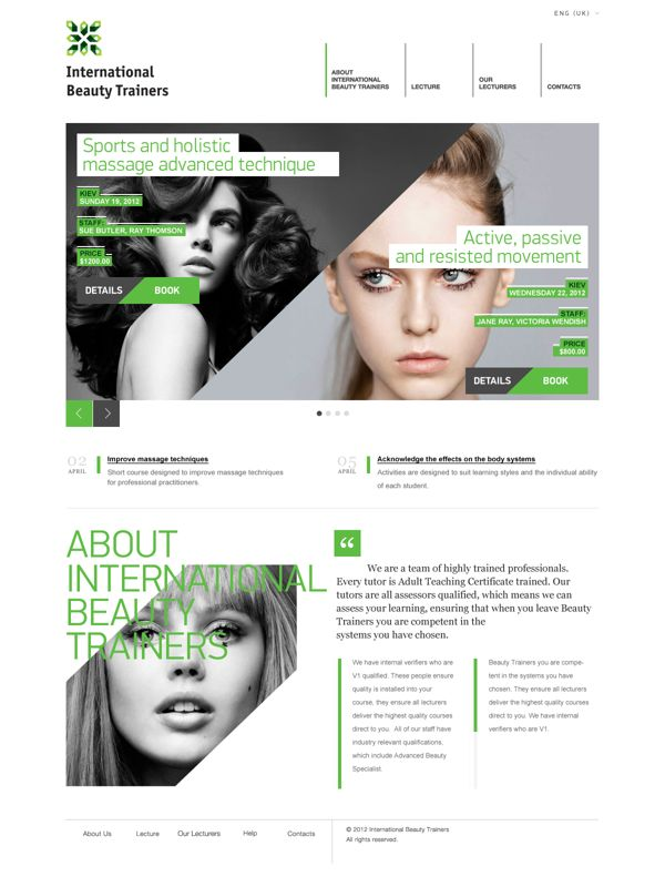 International Beauty Trainers by Victoria Wendish, via Behance