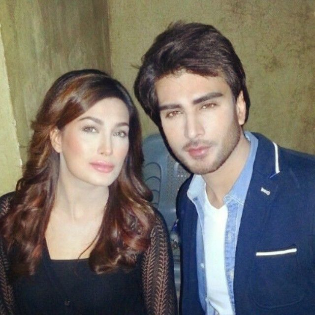 With my friend Mehwish Hayat at the shoot of video sung by Ali Zafar.