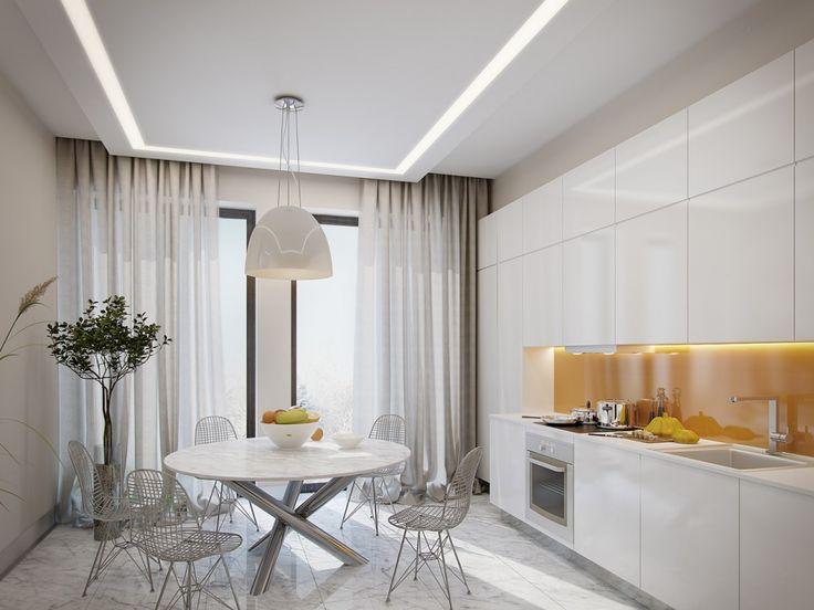 потолок, кухня, шторки