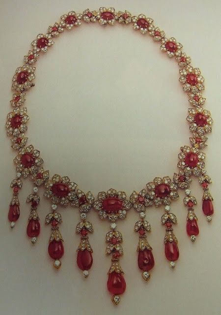 Jackie Kennedy Onassis' Ruby and Diamond Necklace - by Van Cleef & Arpels - $250,000 at 1996 Auction