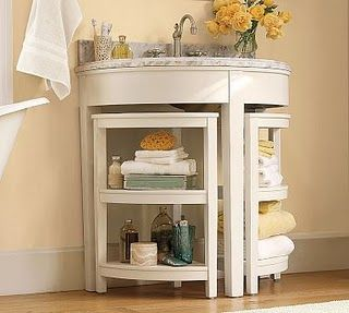 DIY pedestal sink to vanity. OMG I so want to do this!