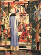 A Large Light Shop Window  by August Macke