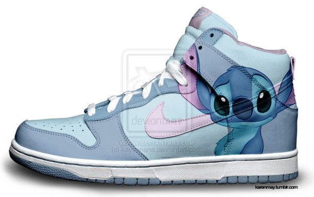 Disney  nike Shoes | shoes, stitch, blue, disney, nike, cute - Wheretoget