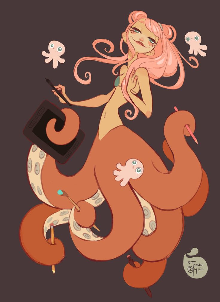 Tentacle+Art+Lady+by+MeoMai.deviantart.com+on+@DeviantArt