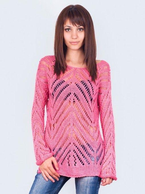 Tunica dama tricotata Concetta roz