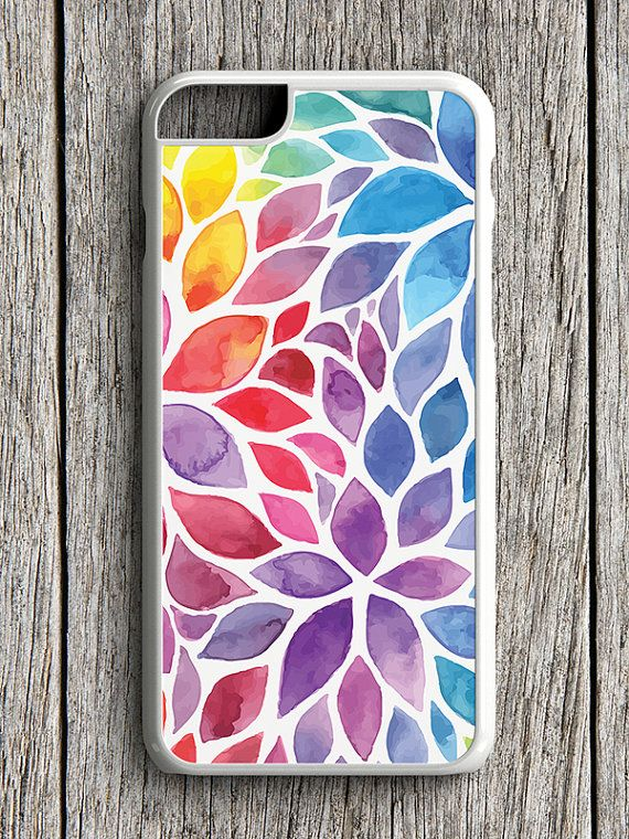 Floral iPhone Case with watercolor floral design.  ● This is hard plastic phone case provides lightweight protection for your phone and looks great too.