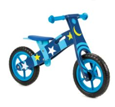 New Moon and Stars Wooden Balance Bike