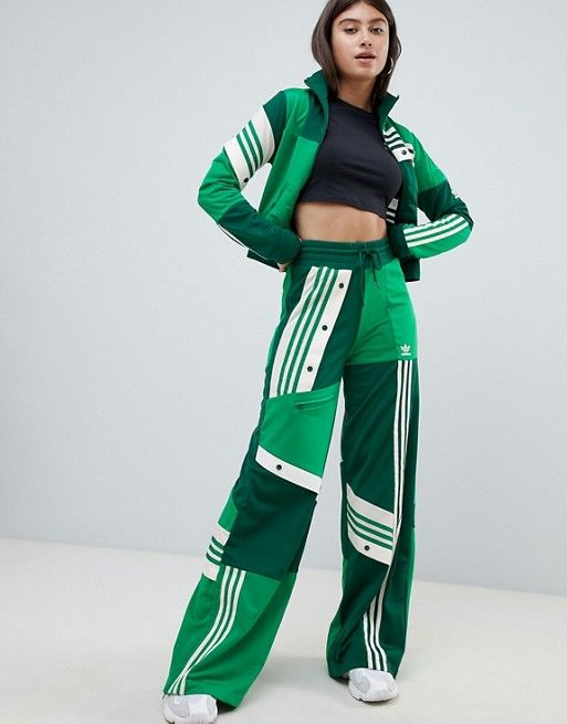 dadcec90f51 adidas Originals X Danielle Cathari Deconstructed Track Pants In Green