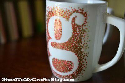 Dot Monogram Sharpie Mug