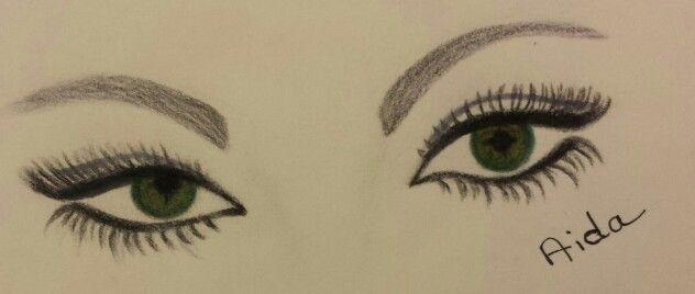 Look at the eyes.....