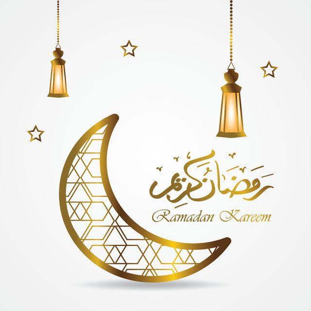 Gambar Ramadan Kareem Kartu Ucapan Template Kaligrafi Arab Dengan Sabit Dan Lantern Islam Banner Bentuk Latar Belakang Ramadan Kareem Islam Png Dan Vektor Un Greeting Card Template Background Design Ramadan Kareem