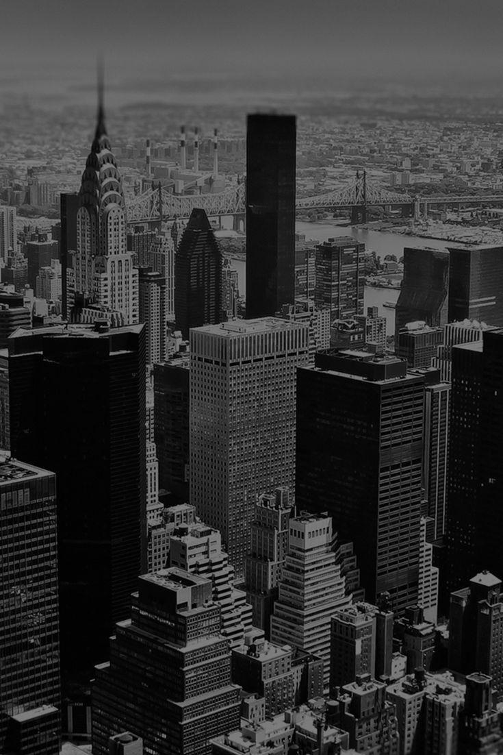 Retro New York Skyline Black And White Photo Wall Retro Wallpaper City Wallpaper
