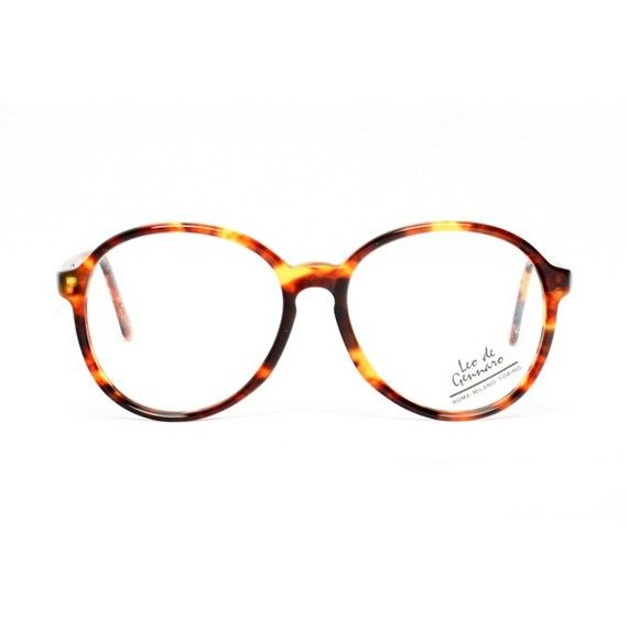 SALE 50% OFF - from €29 for $15   These big brown round tortoise vintage eyeglasses by Leo de Gennaro are new-old-stock frames made in Spain by