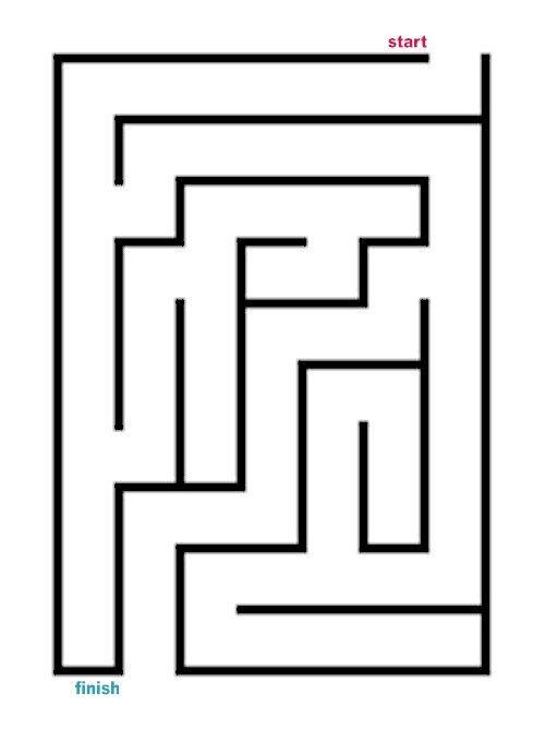 Easy Rectangle Maze 4 Mazes For Kids Maze Easy