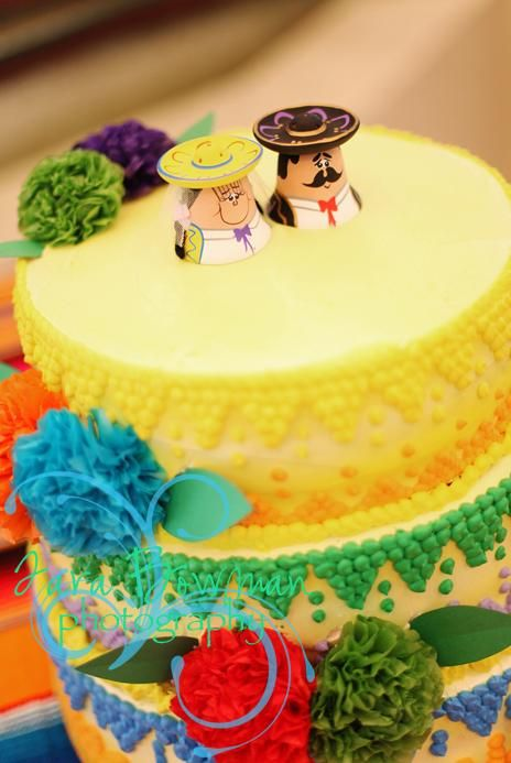 Mexican Theme Cake Topper :  wedding cake mexican theme salt and pepper shakers Cake