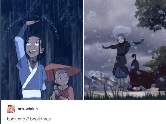 Man, Katara has always been great at waterbending, but this alone shows how quickly she really grew. She was a master by the end!
