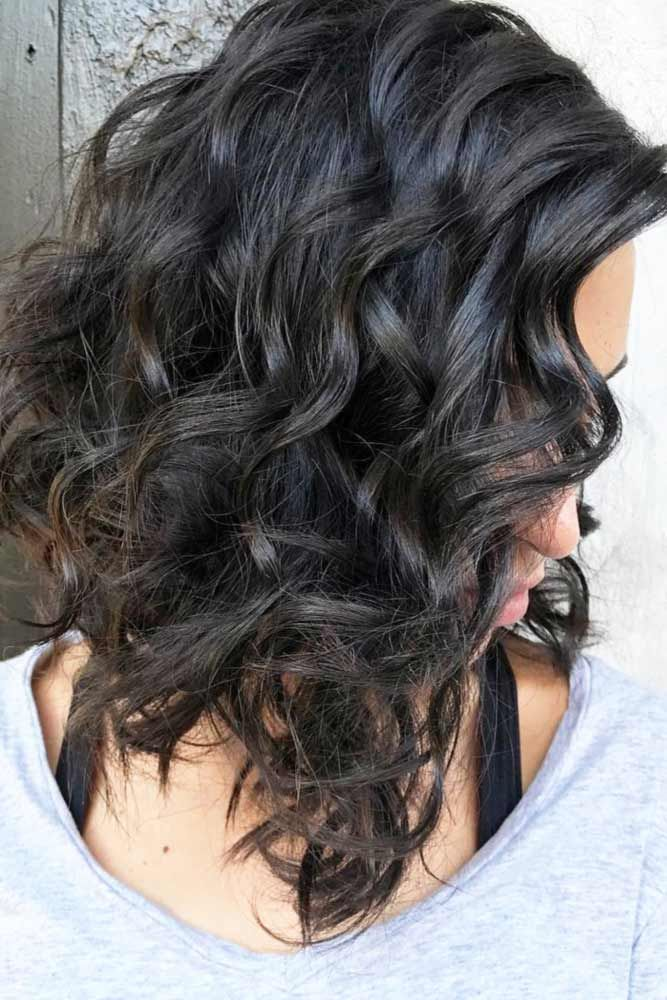 50 Chic Medium Length Layered Hair | Medium curly haircuts, Curly lob haircut, Curly lob
