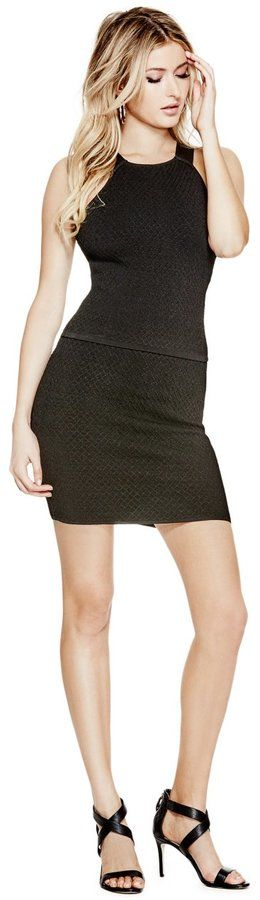 GUESS Women's Textured Bandage Skirt
