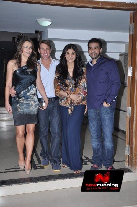 Shilpa Shetty's bash for Shane Warne and Liz Hurley