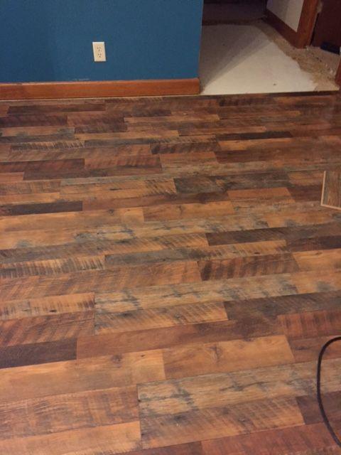 New Floor Is In Pergo Max River Road Oak Lowe S