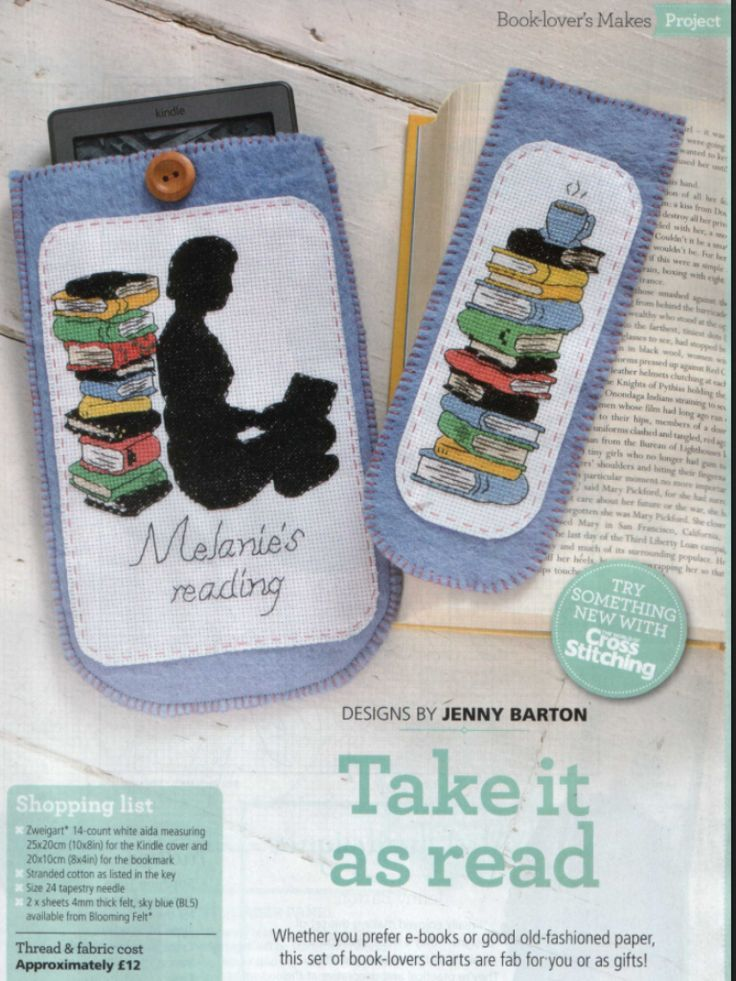 Book Lover's Makes The World of Cross Stitching  Issue 207 October 2013 Saved