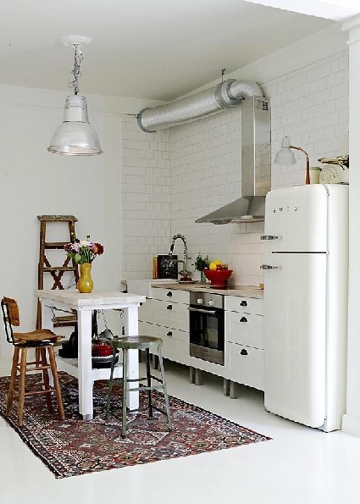 small white kitchen island (ikea?)