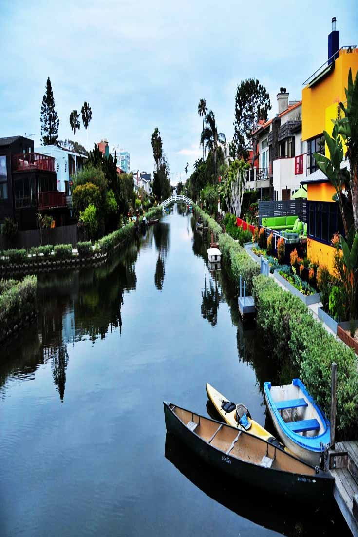 The Venice Canal Walkway is a hidden gem in Los Angeles.