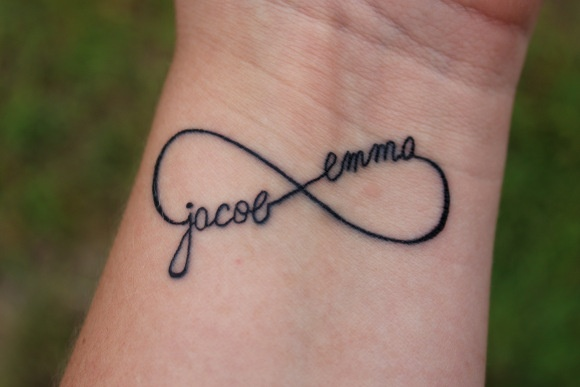Personalized InfinityTattoo With Children's Names