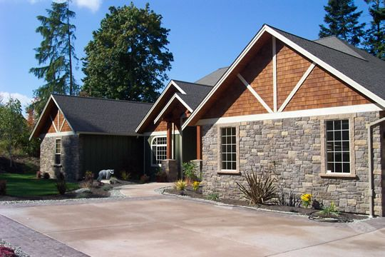 Rock siding for houses for Cost to build a house in little rock