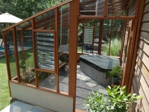 Lean-to greenhouses in many sizes and styles. We can work with you to see if one of our lean-to greenhouse kits will work in your situation.