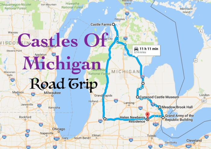 This Road Trip To Michigan's Most Majestic Castles Is Like Something From A Fairytale