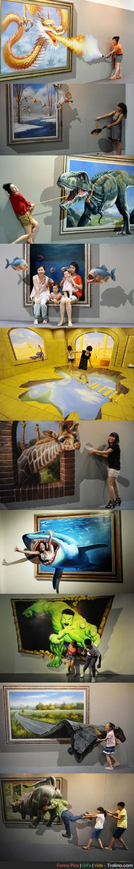 If this is the trick-eye museum in South Korea then I'm going there in a few days :P