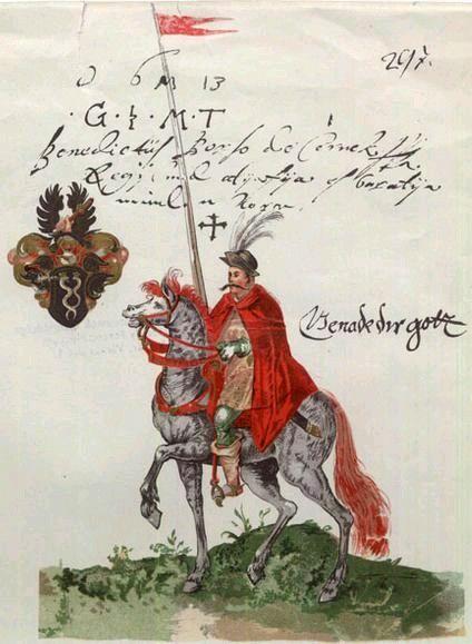 Husarz węgierski, II poł. XVI wieku.