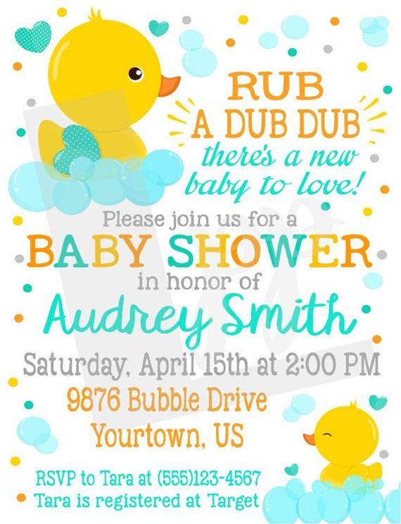 Ducky Invitations Baby Shower Cobypic Com