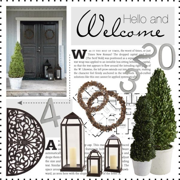 """Welcome"" by veronikasinterior on Polyvore"