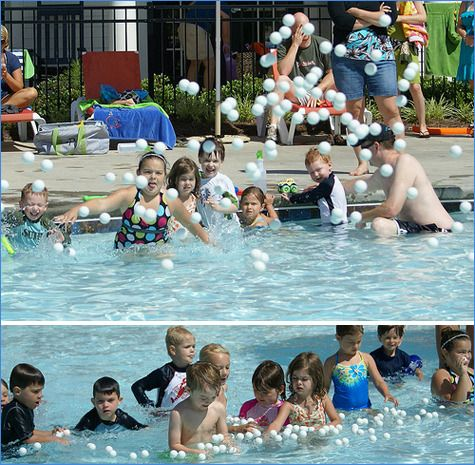 Creative Pool games for kids: Ping Pong pool game for kids at Hostess with the Mostess