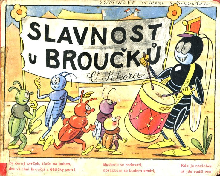 """""""Bugs' Festival"""" - what a wonderful children's book by Sekora - given to my brother about 77 years ago !!!"""