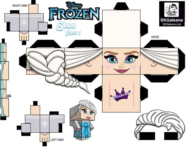 papertoys elsa frozen part 1 Papertoys, PaperDolls, Coloriages et Activités à Imprimer La Reine des Neiges