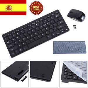 a teclado y raton optico usb combo mini fino 24g inalambrico para pc computadora