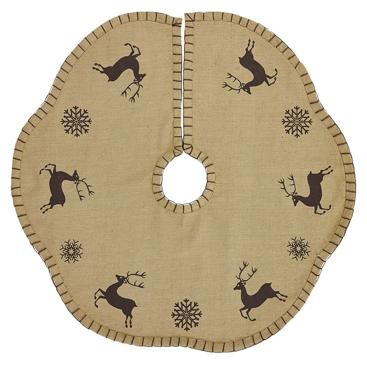 Prancer Mini Christmas Tree Skirt 21 Also Available In A 48 Size Stenciled