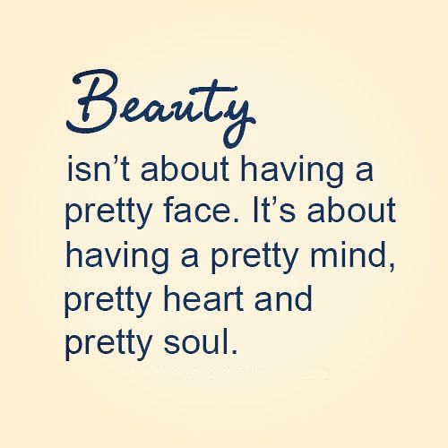 Truth about beauty.