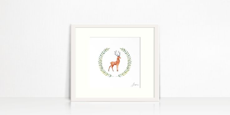 Sweet Stag Wreath by Susan Brand Design for sale on http://hellopretty.co.za