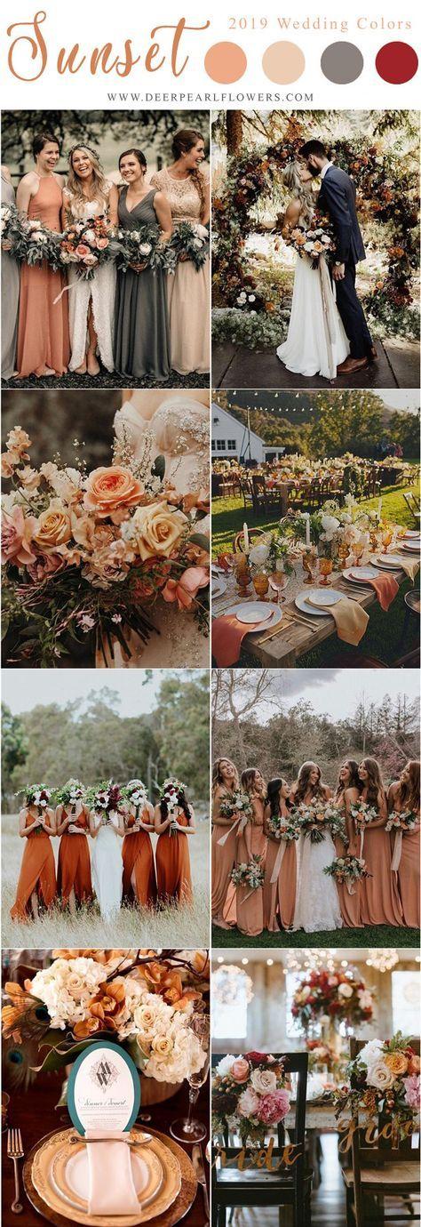 sunset orange wedding color ideas for wedding 2019